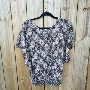 French Laundry Short Sleeves Top Size M